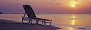 Lounger Prints - Beach Lounger at Sunrise Print by Jeremy Woodhouse