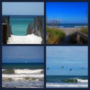 Beaches In Florida Prints - Beach Multiples Print by Susanne Van Hulst