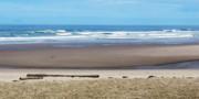 Beach On The Oregon Coast Print by Marion McCristall