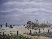 Sand Dunes Paintings - Beach Path at Pawleys by Anna Barnwell-Williams