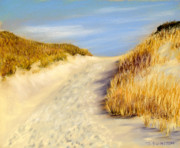 New Jersey Pastels Originals - Beach Path by Joan Swanson