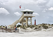 Beach Fence Metal Prints - Beach Patrol Metal Print by Deborah Benoit