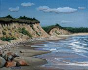 Sand Dunes Painting Posters - Beach Poster by Paul Walsh