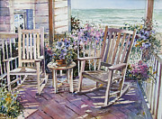 Beth Kantor - Beach Porch with Ocean...