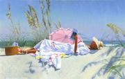 Copley Paintings - Beach Recliner by Candace Lovely