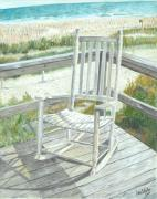 John Schuller Paintings - Beach Rocker by John Schuller