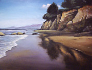Beach Scene Print by Mike Worthen