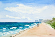 Sand.ocean Paintings - Beach Secrets by Michelle Wiarda