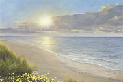 Beach Scene Painting Originals - Beach Serenity by Diane Romanello