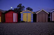 Beach Sheds Print by Nishan De Silva