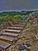 Joanne Kocwin Photos - Beach Stairs by Joanne Kocwin