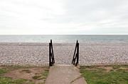 Beach Steps Print by Thenakedsnail