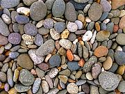 Stones Posters - Beach Stones And Pebbles Poster by Sophie De Roumanie
