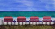 Beach Stripes Print by Cory Clifford