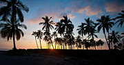 Big Island Prints - Beach Sunset Print by Mike Reid