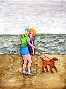 Talking Reliefs - Beach Talk by Linda Carmel