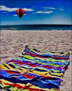 Beach Towel Digital Art Posters - Beach Towel Poster by Chris Lord