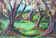 Beach Trees Print by Kathleen Barlament
