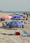 Lbi  Photographs Prints - Beach Umbrella 27 Print by Joyce StJames