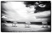 Latin America Photos - Beach Umbrellas at Red Frog by John Rizzuto