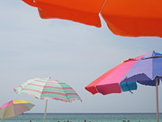 Panama City Beach Posters - Beach Umbrellas Poster by Jan Prewett