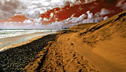 Canary Metal Prints - Beach under a blood red sky Metal Print by Rob Hawkins