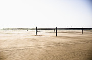 Beach Activities Prints - Beach Volleyball Courts Print by Sam Bloomberg-rissman