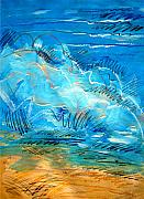 Wave Mixed Media - Beach Wave III by Dodd Holsapple