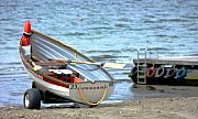 Rowboat Prints - Beachboat Print by Barbara  White