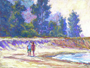 Purple Originals - Beachcombing by Michael Camp