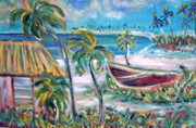 Patricia Taylor Prints - Beached and Happy Print by Patricia Taylor