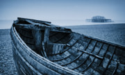 Rowboat Digital Art - Beached at Brighton by Tony Grider