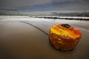 Storm Acrylic Prints - Beached Mooring Buoy Acrylic Print by Meirion Matthias