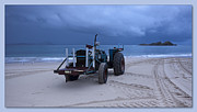 Beached Digital Art - Beached Tractor by Kevin Chippindall