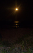 Sea Moon Full Moon Photo Posters - Beachlight 2 Poster by Patricia Taylor