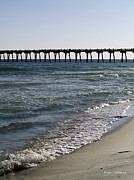 Pensacola Fishing Pier Posters - Beachside View Poster by Karen Devonne Douglas