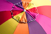 Beach Scenes Photo Originals - BeachUmbrella by Gordon Campbell