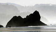 Haystack Rocks Prints - Beachwalk Print by Bob Christopher