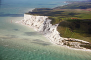 Aerial Posters - Beachy Head At High Tide Poster by Christopher Hope-Fitch