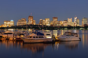 Charles River Photo Prints - Beacon Hill and Charles River Yacht Club Print by Juergen Roth