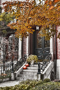 Brownstone Art - Beacon Hill Doorway 2 by Joann Vitali