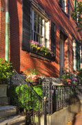 Beacon Hill Sidewalks Print by Joann Vitali