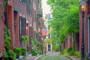 Suffolk County Metal Prints - Beacon Hill Metal Print by Susan Cole Kelly