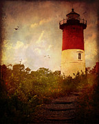 Lighthouses Digital Art Prints - Beacon of Hope Print by Lianne Schneider
