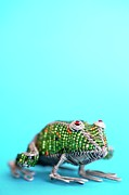 South African Prints - Beaded Wire Frog A South African Curio Grahamstown, Eastern Cape Province, South Africa Print by Neil Overy