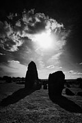 Shining Light Framed Prints - Beaghmore Stone Circles Ancient Irish Monument County Tyrone Ireland Framed Print by Joe Fox