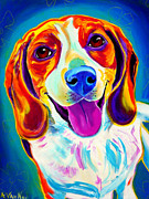 Beagle Paintings - Beagle - Lucy by Alicia VanNoy Call
