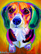 Alicia Vannoy Call Framed Prints - Beagle - Molly Framed Print by Alicia VanNoy Call