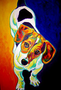 Alicia Vannoy Call Framed Prints - Beagle - Scooter Framed Print by Alicia VanNoy Call