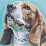 Beagle Paintings - Beagle by L A Shepard